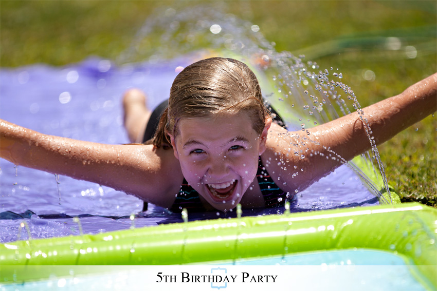 5thBirthday04 A Wet & Wild Backyard 5th Birthday Party
